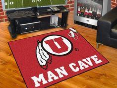 """Man Cave All-Star Rug (34""""x45"""") - University of Utah"""