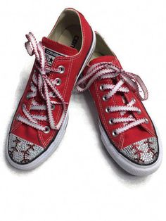 be143297a627 MADE TO ORDER low-top Converse Chuck Taylors shoes hand blinged with high  quality resin rhinestones in baseball style.