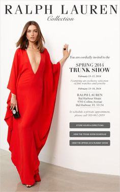 The Bal Harbour Store Invites You To Our Spring 2014 Collection Trunk Show