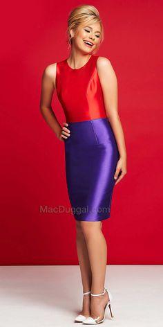 Color Pop Knee Length Dress by Mac Duggal #edressme