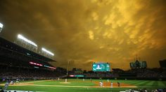 Storm Clouds Above Wrigley Field Create Eerie, Post-Apocalyptic ...