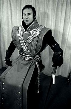 """1970 - Patrick Stewart as the King in """"The Life and Death of King John"""" at the Royal Shakespeare theatre"""
