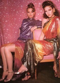 Unknown model & Jill Goodacre 1982