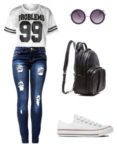 Average teenage girl by passion4fasion1081 on Polyvore featuring polyvore, fashion, style, Converse and Alexander Wang