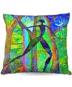 Throw Pillows Indoor Outdoor Decorative Unique Artistic | Jennifer Baird's Night Quest