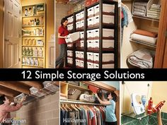 Because I just love to organize my home , I'm always looking for easy storage ideas! I like for everything to be in it's place, out of the way, and easy to find. I've discovered that there are actually quite a few other easy and cheap ways to organize and store your belongings with things you probably already have laying around the house or in the recycle bin!