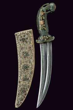 A dagger, similar weapon that was pulled out by one of the Arabic men. Swords And Daggers, Knives And Swords, Katana, Dagger Knife, Arm Armor, Historical Art, Fantasy Weapons, Cold Steel, Indian Jewelry