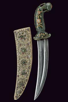Khanjar Dagger.  Dated: 18th century.     Culture: Indian, Moghul.