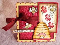 Spring Bees by holley smith - Cards and Paper Crafts at Splitcoaststampers