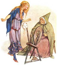 Sleeping Beauty by Margaret Tarrant - illustrations from: Golding, Harry, editor. Fairy Tales. Margaret Tarrant, illustrator. London: Ward, Lock & Co., 1915.
