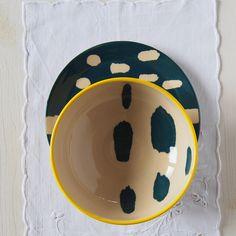 Shibori ceramic Shibori set Indigo set Plate and bowl set Blue ceramic and pottery Modern ceramic Blue and yellow pottery Shibori pattern by PotsbyNives on Etsy https://www.etsy.com/au/listing/476766872/shibori-ceramic-shibori-set-indigo-set