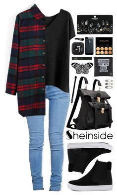 """SheIn 1"" by scarlett-morwenna ❤ liked on Polyvore featuring ZooShoo, Eyeko, NARS Cosmetics, Edward Bess and Topshop"