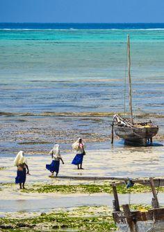 Nungwi Beach, Zanzibar - Girls playing on the beach after school