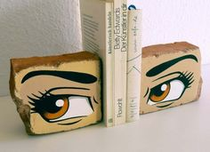 43 Simple Anime & Manga Crafts to Make at Home - Manga Eyes on Brick Book Ends