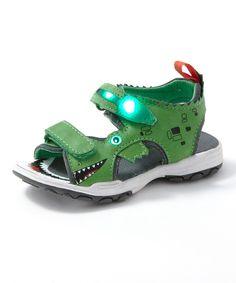 Green Alligator Light-Up Sandal | zulily
