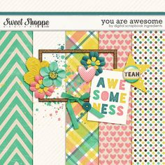 Quality DigiScrap Freebies: You Are Awesome mini kit freebie from Digital Scrapbook Ingredients