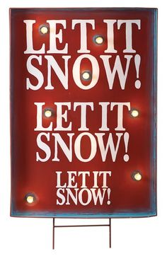Free shipping and returns on Roman 'Let It Snow!' Light Up Sign at Nordstrom.com. Celebrate the season with a vintage-inspired light-up sign that evokes a classic holiday tune and brightens up your décor no matter the weather outside.