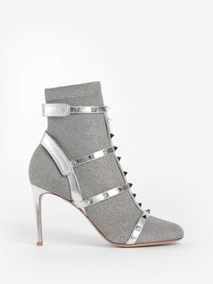 Find the latest couture and fashion designers while shopping for clothes, shoes, jewelry, wedding dresses and more! Valentino Boots, Valentino Clothing, Valentino Women, Valentino Garavani, Low Heel Ankle Boots, Bootie Boots, Crazy Shoes, Me Too Shoes, Silver Socks