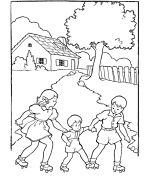 Lots of vintage kids coloring pages