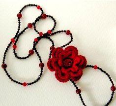 Collar Condetalle A Crochet En Mostacilla E Hilo Mujer Ropa