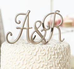 Gold Letter Cake Topper Initial