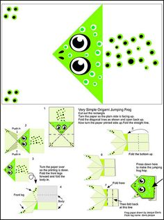 Origami Jumping Frog Instructions and paper | Flickr - Photo Sharing!
