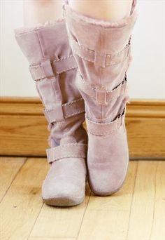 70's Style Suede Festival Boho Fur Boots