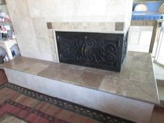 L-shaped fireplace screen- we could use one of these   Home Now ...