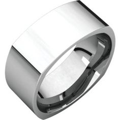 SQR12 / Platinum / 8 mm / Square Comfort Fit Band