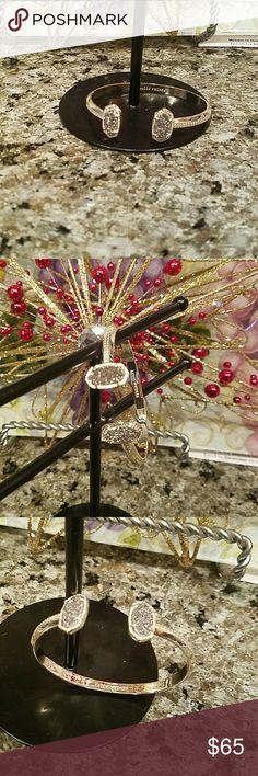 Kendra Scott gold bracelet Kendra Scott bracelet with Iridescent Drusy Kendra Scott Jewelry Bracelets