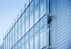 A curtain wall system is an outer covering of a building in which the outer walls are non-structural, but merely keep the weather out and the occupants in. As the curtain wall is non-structural it can be made of a lightweight material, reducing construction costs. When glass is used as the curtain wall, a great advantage is that natural light can penetrate deeper within the building. www.synergyglassanddoor.com #glassdoorrepair #commercialdoor #SynergyGlassDoor