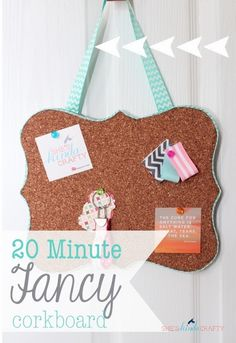 DIY Custom Cork Board -  Learn how to create a cute little cork board for your office or sewing room!