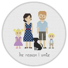 Custom family 5 characters PDF Cross Stitch Pattern by Xrestyk