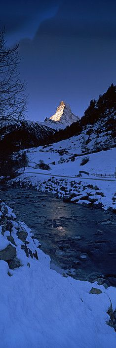 Mt Matterhorn from Zermatt, Valais Canton, Switzerland