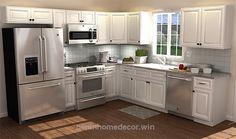 There is no question that designing a new kitchen layout for a large kitchen is much easier than for a small kitchen. A large kitchen provides a designer with adequate space to incorporate many convenient kitchen accessories such as wall ovens, raised. 10x10 Kitchen, Small Kitchen Layouts, Kitchen On A Budget, Kitchen Redo, Home Decor Kitchen, New Kitchen, Home Kitchens, Kitchen Cabinets, Kitchen Ideas