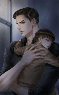 Anime Dad, Dark Anime Guys, Romantic Anime Couples, Romantic Manga, Anime Toon, Fanarts Anime, Anime Couples Drawings, Anime Couples Manga, Arte Fairy Tail