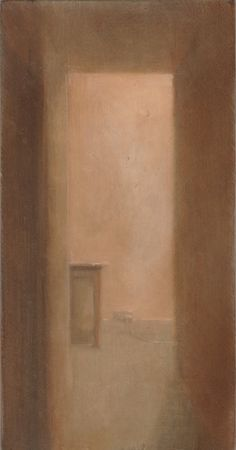 Untitled (Hallway) oil on panel, signed lower right. 2015
