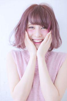 秋カラーの定番♡『ハイトーンラベンダーピンク』のヘアカラーが可愛い! MERY [メリー]
