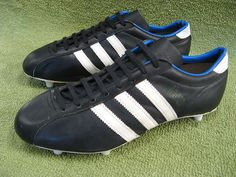 Vintage 1970s Adidas SANTIAGO Football Boots Sz9 Rare Oldschool   eBay