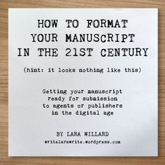 Struggling to format your completed #NaNoWriMo novel? Check out this guide!
