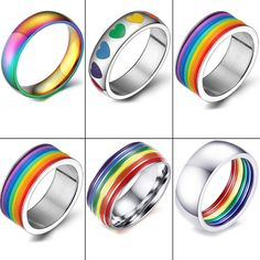 Heymsjoy offers a new approach to sexuality and joy for lesbian lovers Instruções Origami, Stainless Steel Wedding Bands, Pride Bracelet, Pansexual Pride, Color Ring, Fantasy Jewelry, Gay Pride, Cute Jewelry, Fashion Rings