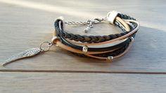 #bracelet #leather #blue #nude