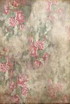 Vintage Shabby Grunge Red Flowers Photography Backdrop GA-57 – Dbackdrop
