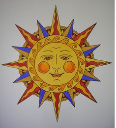 Genevieve Monks Keller: Sun Illustration