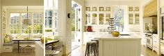 crushing on kitchens:  white kitchens have my heart