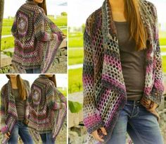 Crochet Jacket Free Pattern via The WHOot