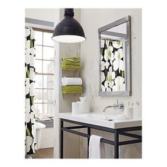 Brushed Steel Wall Mount Towel Rack - Crate and Barrel