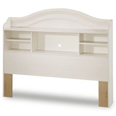 Found it at www.dcgstores.com - ♥ ♥ Summer Breeze Whitewash Full Bookcase Headboard ♥ ♥