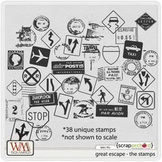 Great Escape: The Stamps by WM Squared Designs
