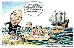 Granlund cartoon: Undocumented kids to Massachusetts. http://www.uticaod.com/article/20140724/NEWS/140729680/0/SEARCH